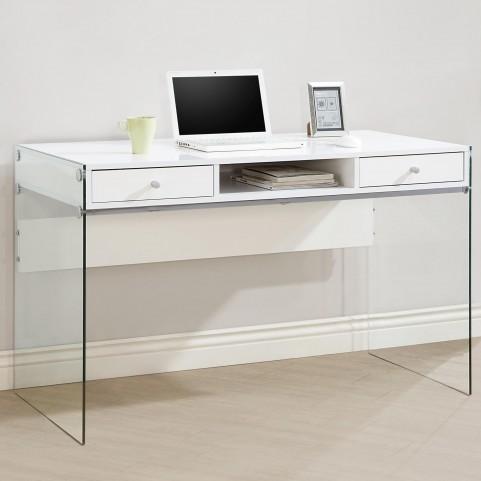 800829 Glossy White Computer Desk
