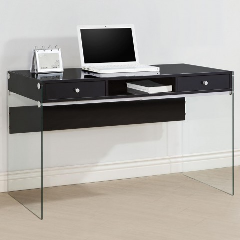 800830 Glossy Black Computer Desk