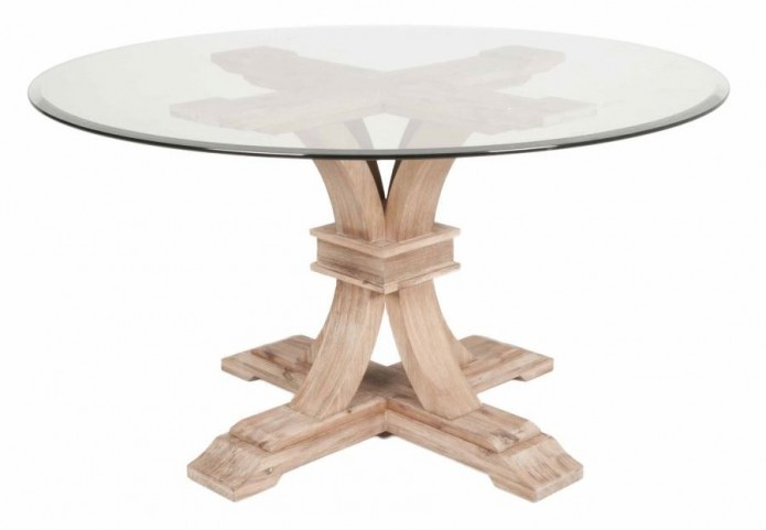 "Devon Stone Wash 54"" Round Dining Table"