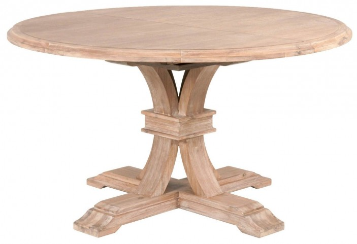 Traditions Stone Wash Devon Round Extension Dining Table