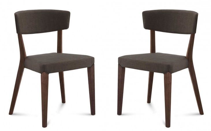 Diana Flirt Brown Chocolate Frame Ashwood Chair Set of 2