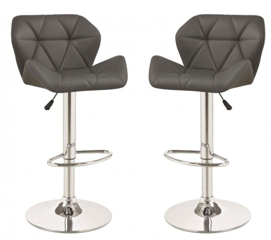 100426 Gray Adjustable Bar Stool Set of 2