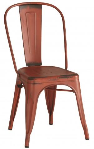 Bellevue Red Metal Dining Chair Set of 4