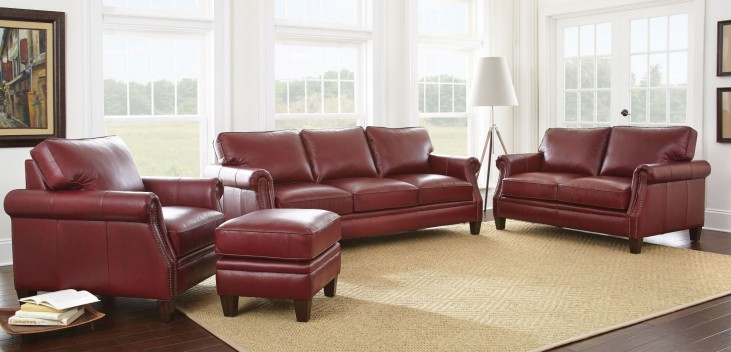 Dalton Leather Living Room Set