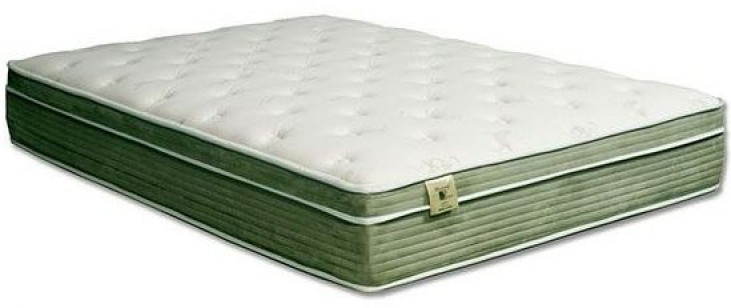 "Harmony II White and Green 12.5"" Full Euro Pillow Top Mattress"