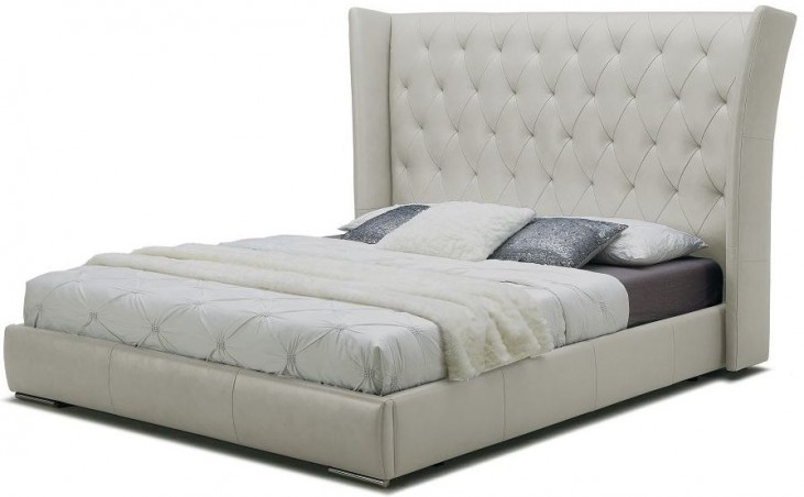 Donovan Light Grey Queen Platform Bed