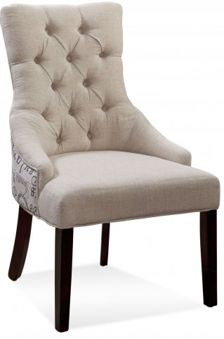 Fortnum Script Fabric Tufted Nailhead Parson Chair