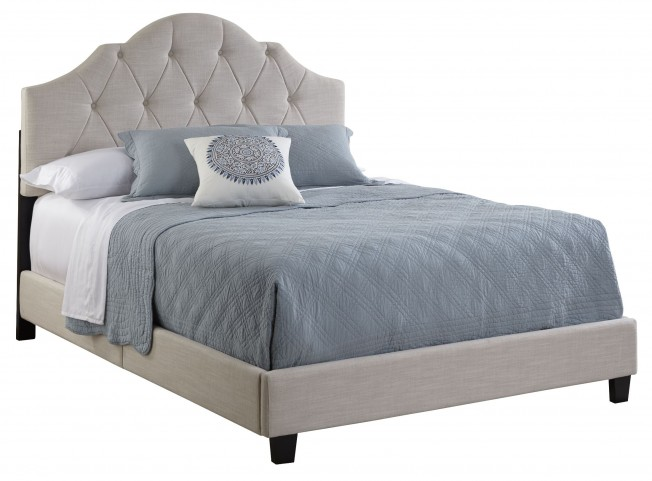 All-N-One Queen Fully Upholstered Tufted Saddle Bed