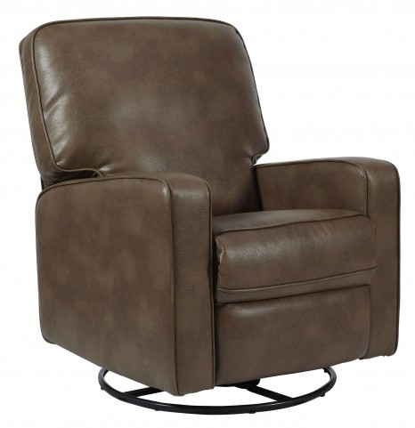 Sutton Roman Chestnut Swivel Glider Recliner