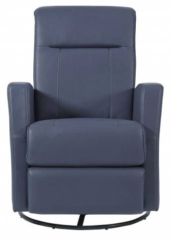 Harper Grape Rehide Swivel Glider Recliner