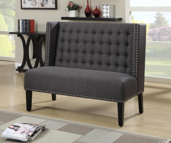 Tuxedo Anthracite Banquette Bench