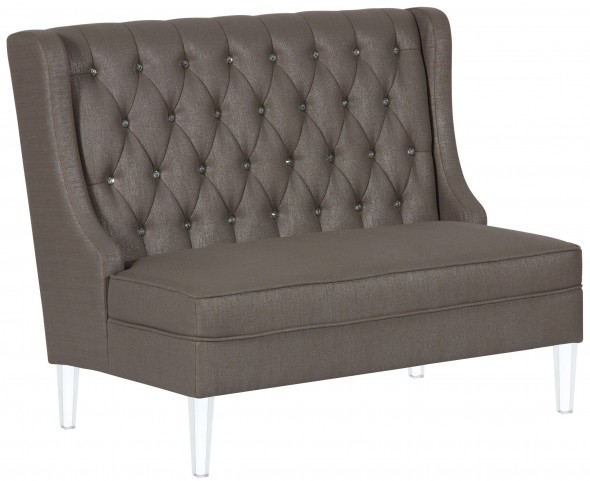 Glam Glitz Mica Upholstered Banquette