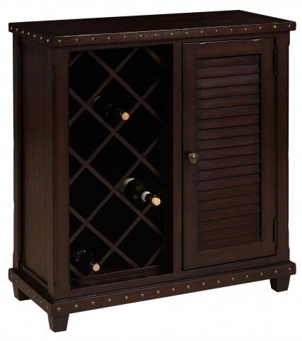Warm Cherry Door Wine Cabinet