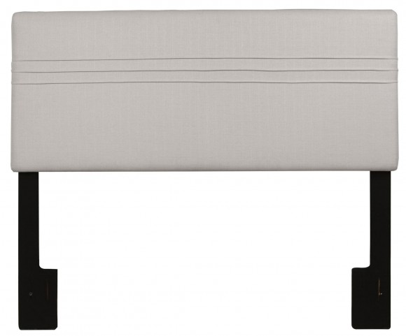 Full/Queen Upholstered Hayden Silver Headboard