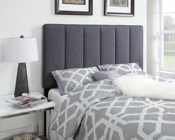 Full/Queen Upholstered Hayden Gray Headboard