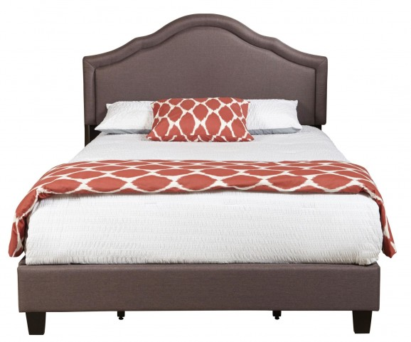 Trespass Slate Queen Upholstered All-In-One Platform Bed