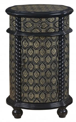 Black Gold Asian Influence Accent Chest
