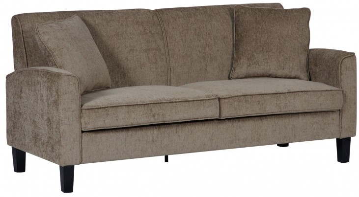 Knife Edge Taupe Sofa