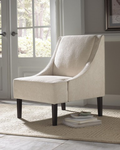 Beige Upholstered Accent Chair