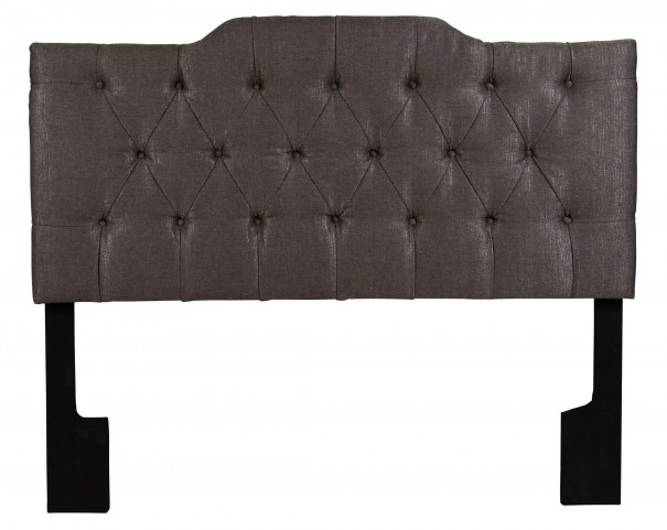 Full/Queen Upholstered Tuxedo Anthracite Headboard