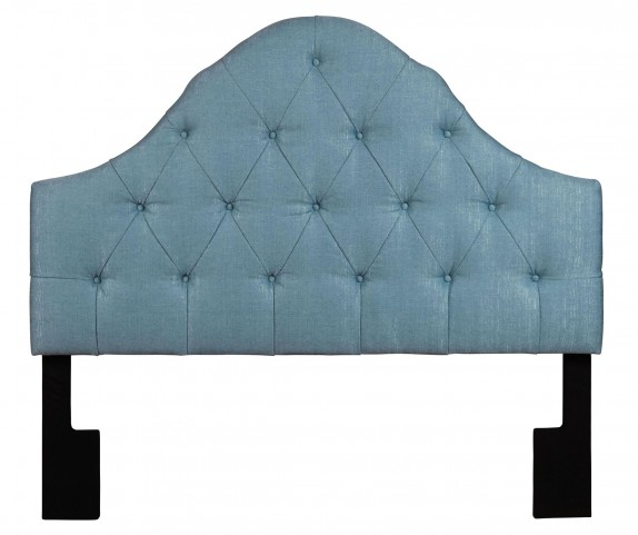 Full/Queen Upholstered Tuxedo Seafoam Headboard