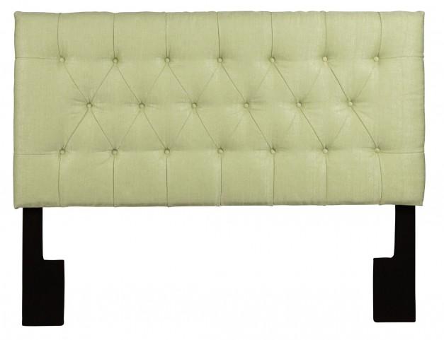 Full/Queen Upholstered Tuxedo Lime Headboard