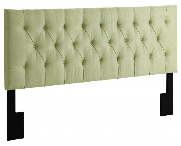 King-Cal. King Tuxedo Lime Upholstered Headboard