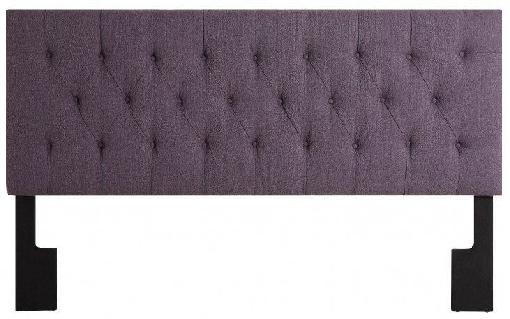Full/Queen Upholstered Stallion Purple Headboard
