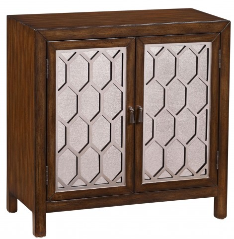 Warm Brown Overlay Door Chest