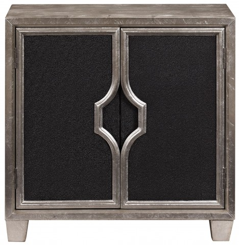 Glam Silver Leaf Door Chest