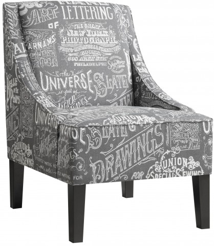 Chalkboard Shadow Upholstered Arm Chair