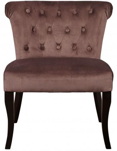 Tucra Fawn Velvet Upholstered Dining Chair