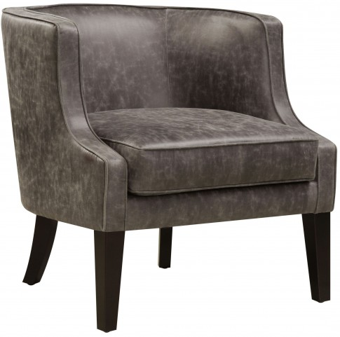 Pellini Thunder Leather Upholstered Arm Chair
