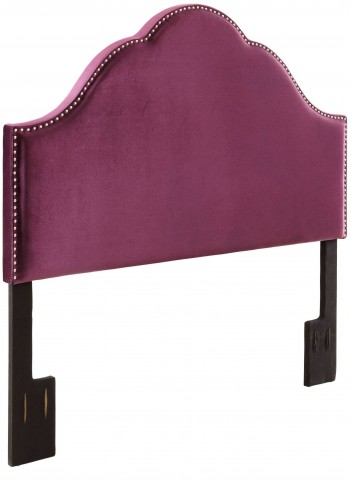 Glam Velvet Plum King Upholstered Headboard