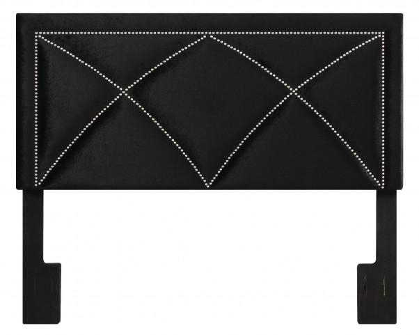 Velvet Black King Upholstered Headboard