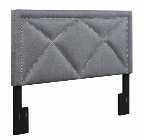 Tux Slate Queen Upholstered Headboard