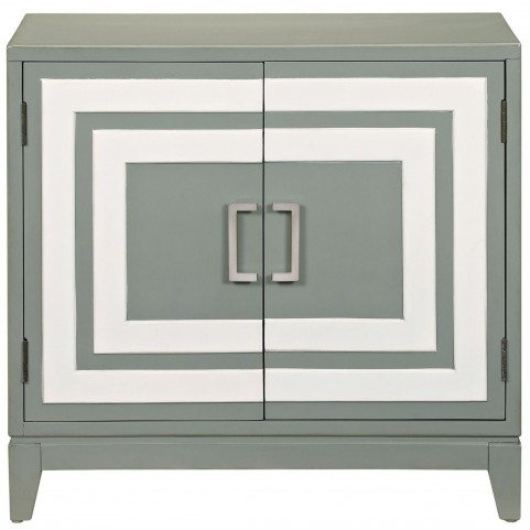 Modern Painted Gray Door chest