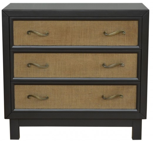 Modern Painted Black Drawer Chest
