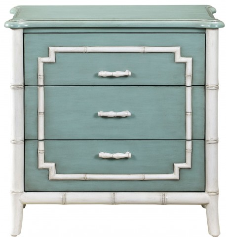Bamboo Trim Seafoam Drawer Chest