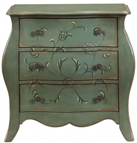 French Antiqued Pale Green Bombay Chest