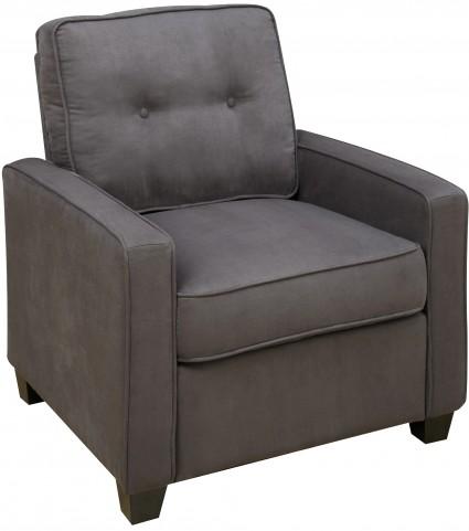 Tufted Back Vernon Slate Arm Chair