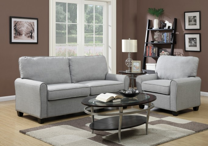 Track Dennison Grey Arm Living Room Set