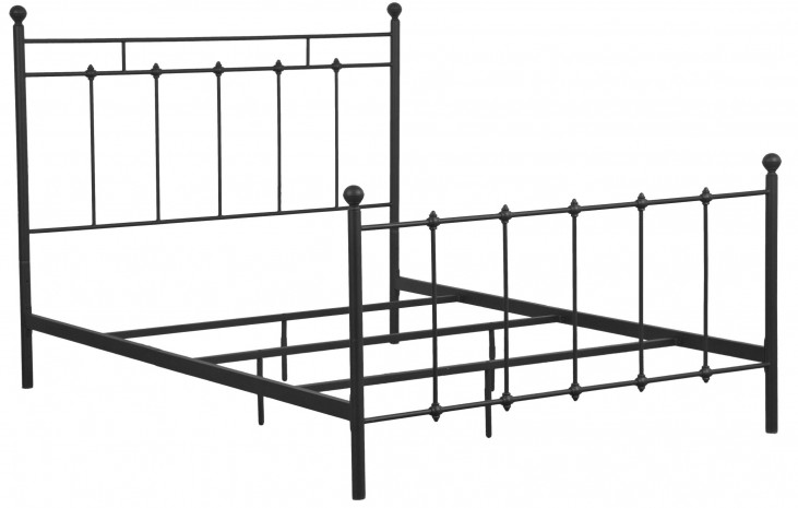Black Shaker Queen Metal Bed