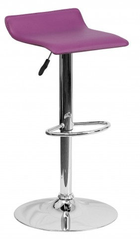 1000786 Purple Vinyl Adjustable Height Bar Stool