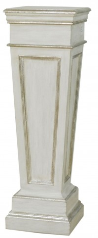 Silver Pedestal Table