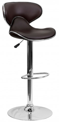 Cozy Brown Adjustable Height Bar Stool