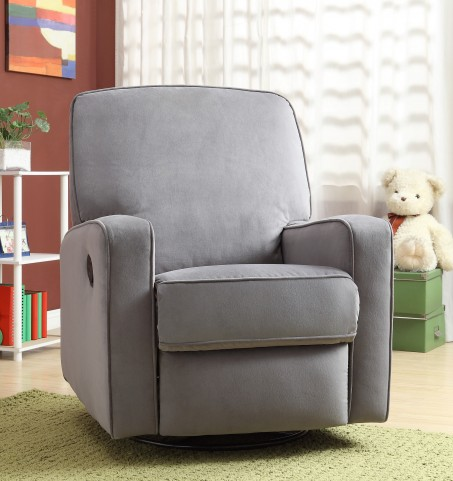 Sutton Stella Zen Grey Swivel Glider Recliner