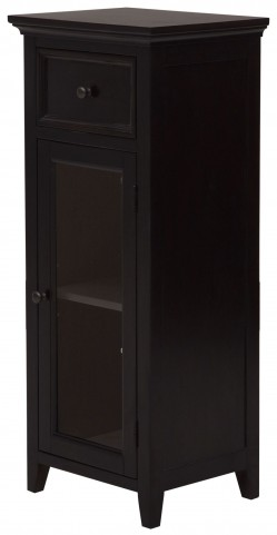 Warm Chocolate Single Glass Door Bathroom Storage