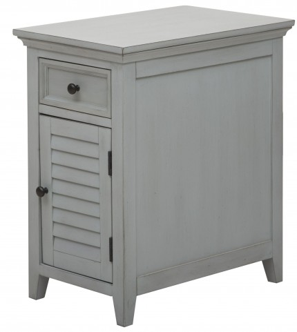 Cool Grey Shutter Door Chairside Chest