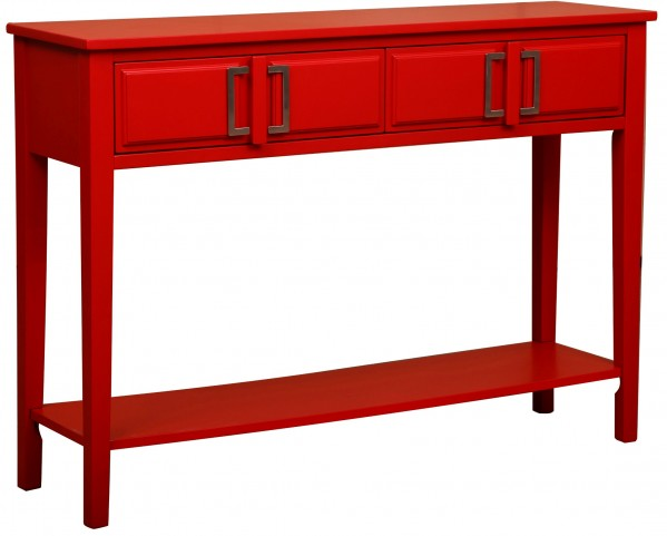 Vibrant Brick Console Table